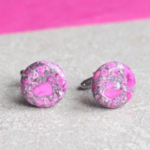Manžetové růžové knoflíky