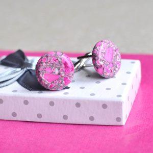 Růžové manžetové knoflíky