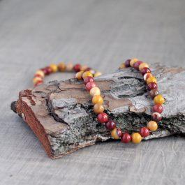 Energetický náhrdelník z pravého mookaitu