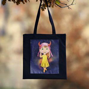 Taška na zip s panenkou