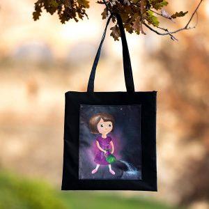Textilní taška s panenkou