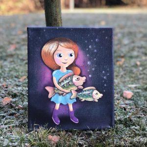 Obrázek na zeď s panenkou