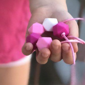 Dětský náhrdelník ze silikonu